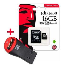 Memoria Micro Sd Kingston 16gb Canvas C10 80 M/s + Pendrive