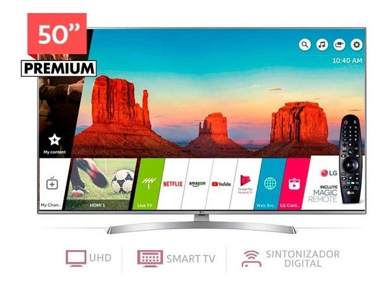 Led Lg 50 Smart Tv 4k Ultrahd Wifi 6550 Magic Control Albion