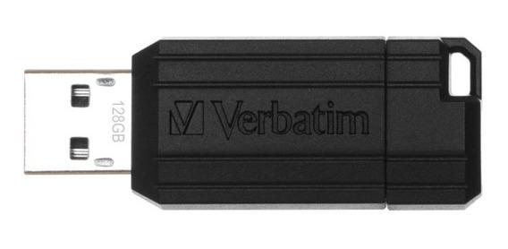 Pendrive 128gb Pinstripe Verbatim Usb 2.0