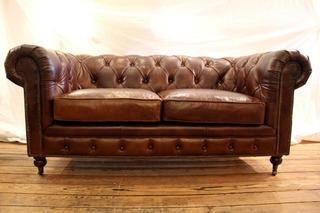 Sillon Chesterfield - Sofa De Cuero Natural Palm Restaurant
