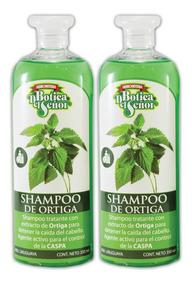 Pack De 2 Shampoo Botica Del Señor De Ortiga Anticaspa 350ml