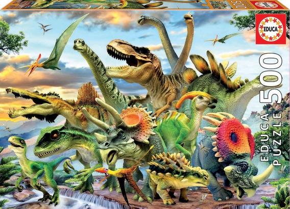 Puzzle De 500 Piezas Educa Conjunto De Dinosaurios - 17961