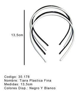 Tiara Finita Plastico Blanca , Color