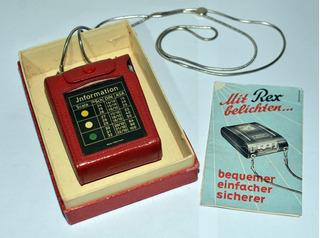 Antiguo Fotómetro Para Fotografía Marca Rex, Alemán