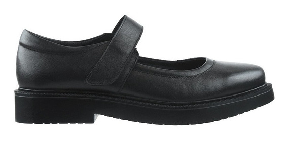 Zapato Colegial Guillermina Guga De Cuero Con Pulsera - Toto