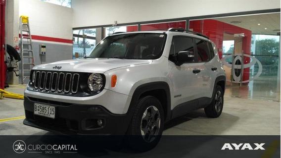 Jeep Renegade Sport 1.8 2016 Gris Plata Excelente Estado