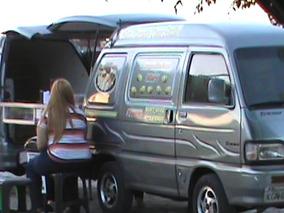 Asia Towner Food Truck Duplo Para Comercialização De Lanches
