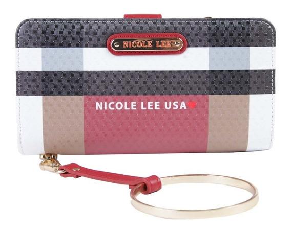 Billetera Dama Nicole Lee Usa (chk6823) Rojo Y Negro