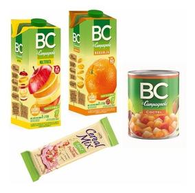 Pack Bc Y Cereal Mix. Jugos, Barritas Y Fruta En Conserva