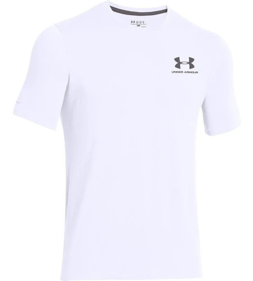 Remera Under Armour Charged Cotton Sportstyle Blanco