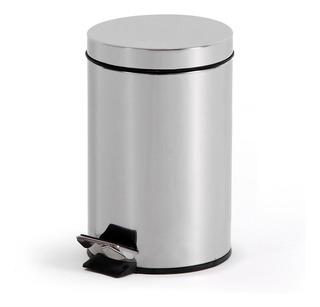 Papelera De Metal Con Pedal 3 Litros Cocina - Impre$ionante