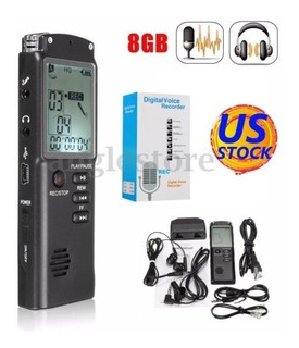 8gb Usb Recargable Lcd Digital Espía Voz Audio Recorder Dict