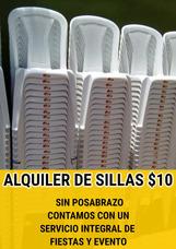 Sillas De Plásticos 10 Pesos