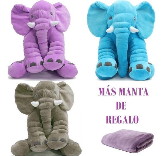 Almohada Elefante Gris Peluche Almohada Elefantes Bebe Niños