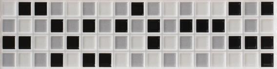 Guarda Ceramica Simil Mosaico Blanco Negro Cerámicas Castro