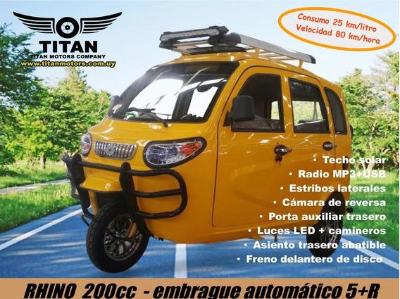 Utilitario Triciclo Pasajeros Titan Rhino 0 Km