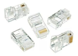 Fichas Conector Rj45, Para Cables De Red - X 20 Unidades