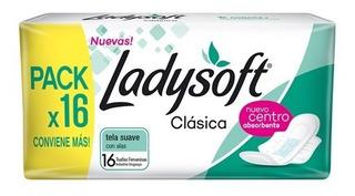 Toalla Femenina Ladysoft Clasicas X16 Unidades