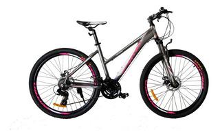 Bicicleta Rodado 26 Montaña Aluminio, Dama, Shimano, Rh Merc