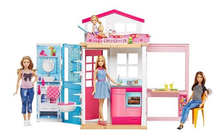 Barbie Estate Casa Glam De 2 Pisos Con Muñeca Dvv48