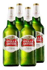 Cerveza Stella Artois Litro Pack X4