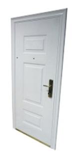 Puerta Blanca Blindada- Izquierda