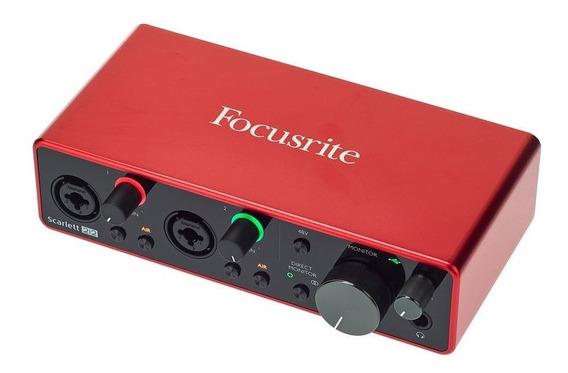 Interfase De Audio Focusrite Scarlet 2i2 - 3ra Generación