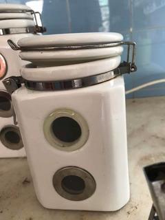 Frascos Porcelana De 1/4 1/2 1 Lts Cocina