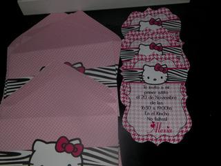 Invitaciones Cumpleanos Infantiles Hello Kitty En Mercado