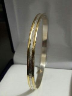 Esclavas Plata Y Oro 0.5 Cm De Ancho !!