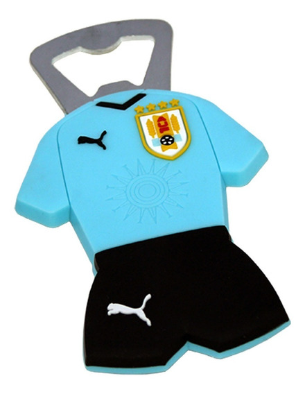 Imán Destapador Selección Uruguaya De Fútbol Uniforme