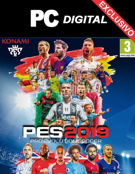 Pes 2019 Pro Evolution 2019 Pc Español + Licencias / Digital