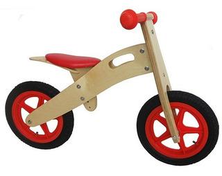 Bicicleta Para Niños De Madera Roja Sin Pedales Chivi Chiva