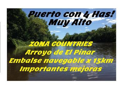 Cno Horneros, Fte Embalse Pinar Navegable. 100% No Inundable