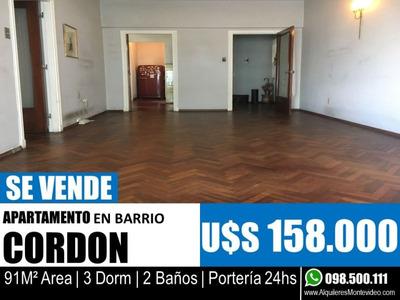 3 Dormitorios Y 2 Baños - Apartamento En Cordon
