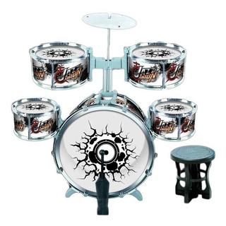 Batería Musical Infantil Con Asiento 5 Tambores