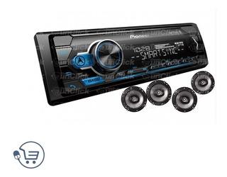 Radio Pioneer + Bluetooth + 4 Parlantes+pendrive 16g-unclick