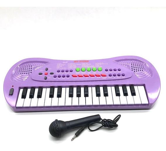 Instrumento Órgano De Juguete Con Micrófono - Impre$ionante