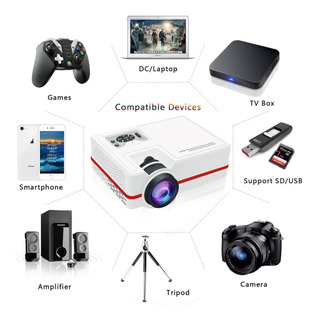 Projector Led 2000 Lumens!!! Soporte Hd 150 Pulgadas Wifi