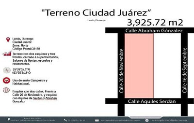 Terreno En Venta En Ciudad Juarez Lerdo