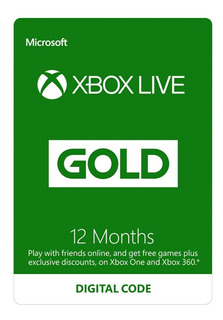 Xbox Live Gold 12 Meses 1 Año - Codigo De Canjeo!