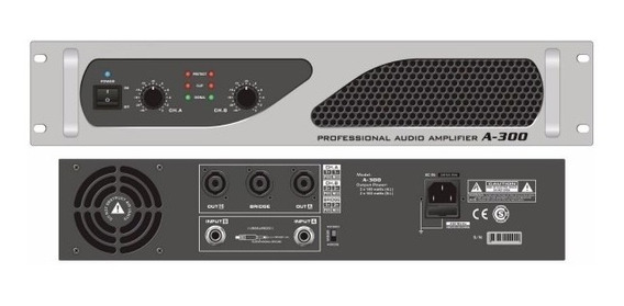 Potencia Pls A600 300 Watts + 300