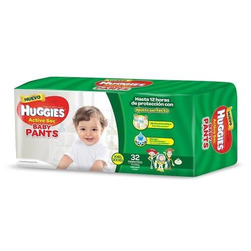 Pañales Huggies Pants Xxg 32 - Bebés Y Niños