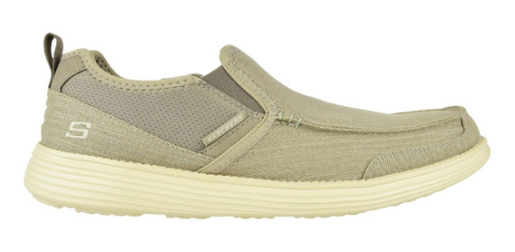 Zapato Casual Skechers Relaxed Fit Status Delton Camel - Tot