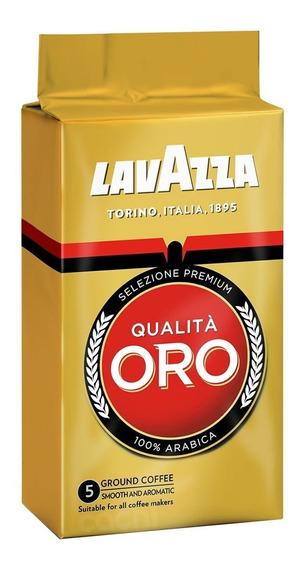 Cafe Lavazza Qualita Oro 250gr De Maquina Molido Intensidad