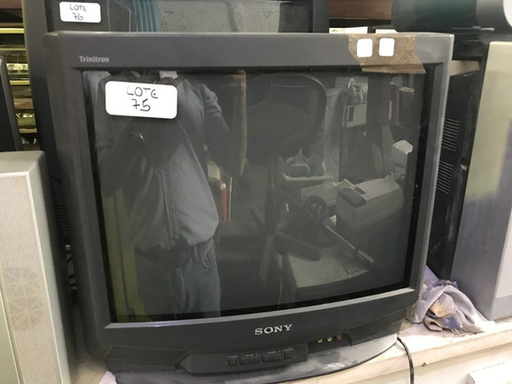 Televisores Sony Trinitron 21 Pulg Sin Control Impecable