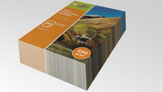20 Paquetes De Papel Fotografico Brillo-glossy A4 De 230grs