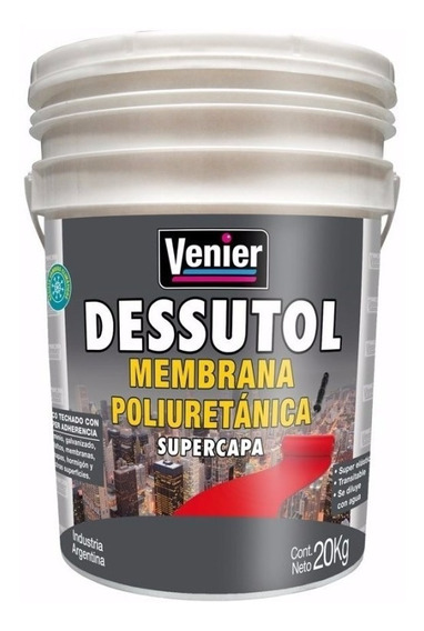 Membrana Liquida Con Poliuretano Dessutol 20kg Colores.