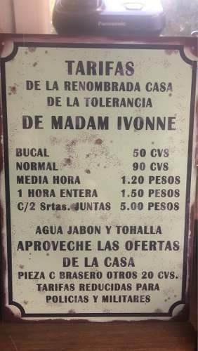 Chapa Retro Vintage No Esmaltada Tipo Antigua Regalo Bar