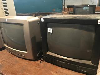 Televisores Color 20 Pulg Y 24 Pulgadas Funcionan Perfec